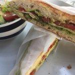 Green sandwich at Shraga Cafe