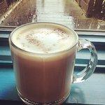 Hot latte on a PNW rainy day.