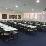 Function room set up for 80 people.