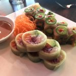 Naruto Roll & Jalapeño Roll (no rice in both)