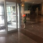 revolving doors- always fun for kids