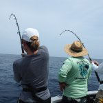 Mom and dad hauling in a catch together