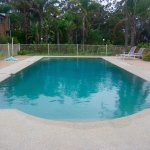 salt water pool on site