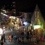 Bourbon St, just after dark