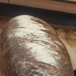 Our award winning sourdough is has a beautiful crunchy crust with a moist crumb