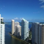 Brickell Key view from top corridor.