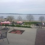 Deck with view of Lake Monona