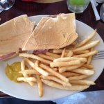 Cuban sandwich with French fries