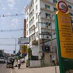 Lao Golden Hotel, street view
