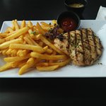 Grilled Chicken Breat with friench fries