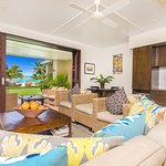 1 bedroom beachfront living room