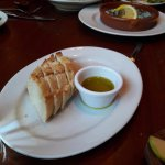 Warm bread with a rich olive oil dip.