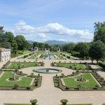 Jardin vue du premier étage de la villa