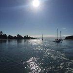 Leaving the wharf at Mapua for Rabbit Island