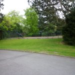 More potential car parking- the derelict tennis court
