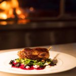 Confit Duck Leg Salad with Pickled Beetroot, Knockalara Soft Cheese, Black Garlic and Pear