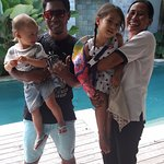 Our kids with Ketut and Made.