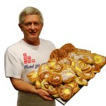 Our baker Svein Sturla and some of our sweets!