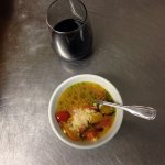 Fresh corn tomato soup starter. Vegetarians, must try it!