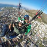 Floating over Cape Town