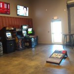 A large gameroom is attached to the brewery.