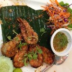 Fried peel & eat shrimp in garlic / pepper half eaten order