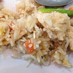 Fried rice with chicken, nothing to write home about