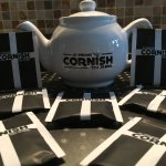 Our lovely new St Pirans tea bags and coordinating tea pots