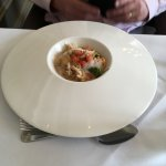 Seafood risotto, local crab, chervil, tomato and langoustine bisque