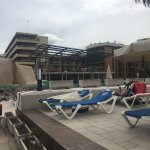 The proximity of the building works to the main pools and sunned area as detailed in my review.