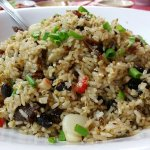 HK Style Fried RIce with Black bean and Fish