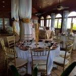 Mahogany Dining Room, as set for a wedding reception