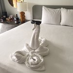 love the daily towel creations made by the housekeeping staff