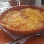 aubergine in cheese & tomato