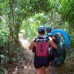 Hike through the jungle to cave tubing