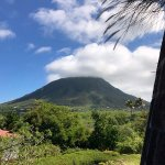 View of Nevis Peak from the Montpelier sugar mill