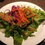 house salad with FRESH ginger dressing