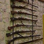 Old rifles on display
