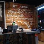 sign declaring homemade ice cream