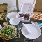 We enjoyed the delicious food in our hotel room as Michael's pizza offers delivery.