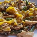 Fresh Tagliatelle Pollo Parmesana.