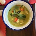 Wonderful green curry chicken