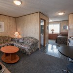 Efficiency Suite - 2 full sized beds, kitchenette, living room, full bath, flat screen TV, safe,