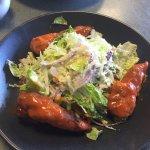 Buffalo chicken salad & Mexican chicken panini...