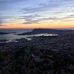 Vue de Toulon, au coucher de soleil