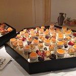 Delicious dessert buffet.