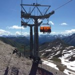One of the amazing rides high up in the Alps. Austria one side and Switzerland the other.
