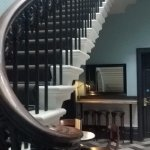 staircase up to the suite