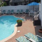 Enjoy the tranquil setting around the heated pool.