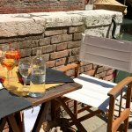 Lovely table by the canal